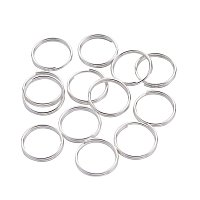 NBEADS 1000g Iron Double Loops Jump Rings Split Rings, Silver, 10x0.7mm; about 8.6mm inner diameter, about 4160pcs/Kg