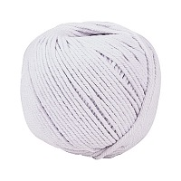 Cotton String Threads for Jewelry Making, Macrame Cord, Floral White, 4mm; about 110m/roll