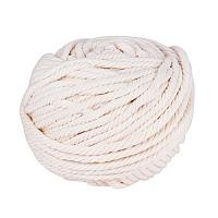 PandaHall Elite 6mm (About 54 Yards) Cotton Macrame Cord Twine Craft Rope Yarn for DIY Plant Hanger Wall Hanging Decoration Knitting, WhiteSmoke