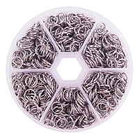 PandaHall Elite 1 Box About 1000 Pcs Stainless Steel Open Jump Rings Diameter 8mm Wire 18-Gauge