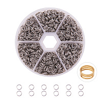 PandaHall Elite Diameter 6mm 304 Stainless Steel Split Rings Double Loop Jump Ring Diameter 5mm for Jewelry Making, about 2600pcs/box