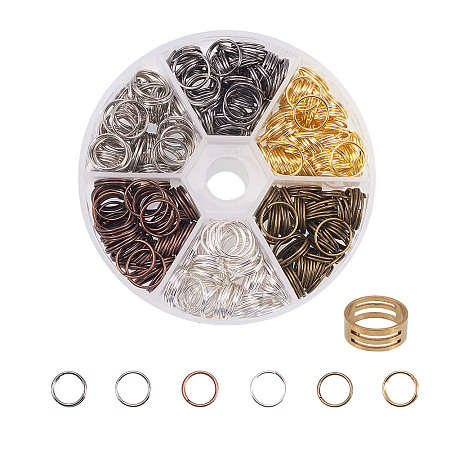 PandaHall Elite Multicolor Iron Split Rings Diameter 10mm Double Loop Jump Ring for Jewelry Making, about 200pcs/box