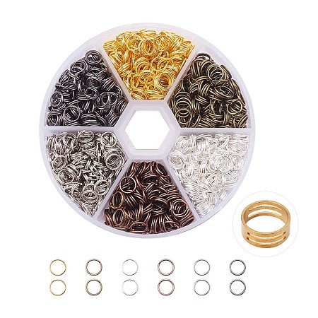 PandaHall Elite Multicolor Iron Split Rings Diameter 4mm Double Loop Jump Ring for Jewelry Making, about 1700pcs/box
