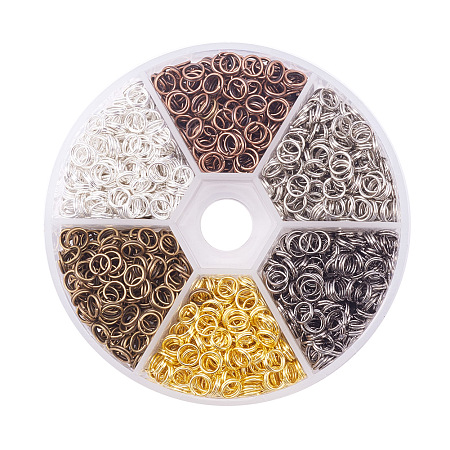 PandaHall Elite Multicolor Iron Split Rings Diameter 5mm Double Loop Jump Ring for Jewelry Making, about 1300pcs/box