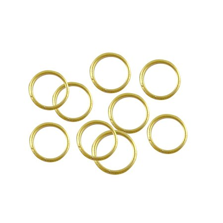 NBEADS 1000g Iron Jump Rings, Close but Unsoldered, Nickel Free, Golden, about 11000pcs/1000g, 6mm in diameter, 0.7mm thick; about 4.6mm inner diameter
