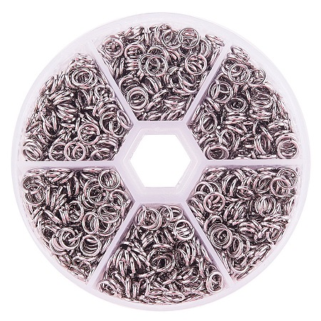 PandaHall Elite Diameter 6mm 304 Stainless Steel Closed But not Soldered Jump Rings for Jewelry Making, about 900pcs/box